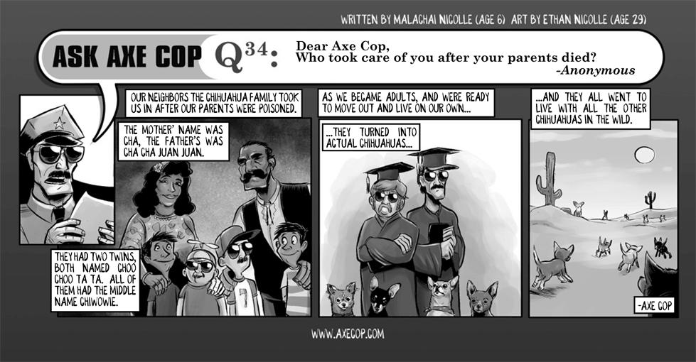 Ask Axe Cop #34