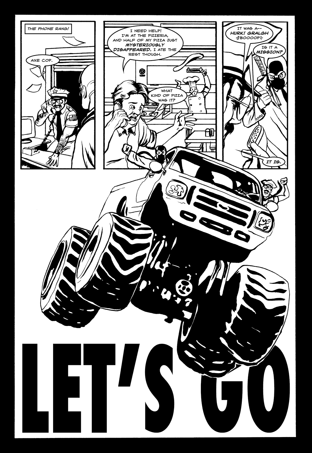 Axe Cop & Dr. McNinja Page 2