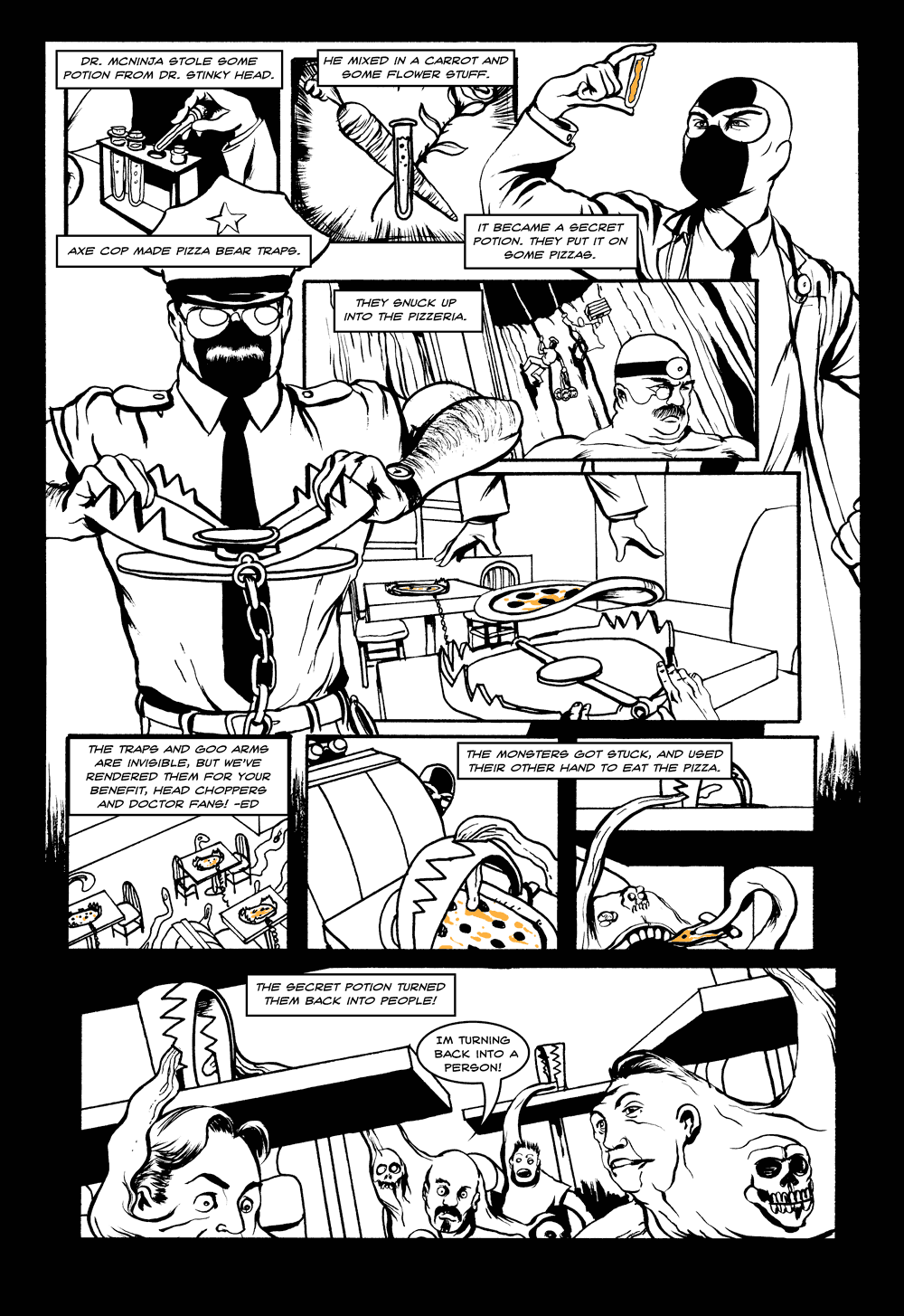 Axe Cop & Dr. McNinja Page 5