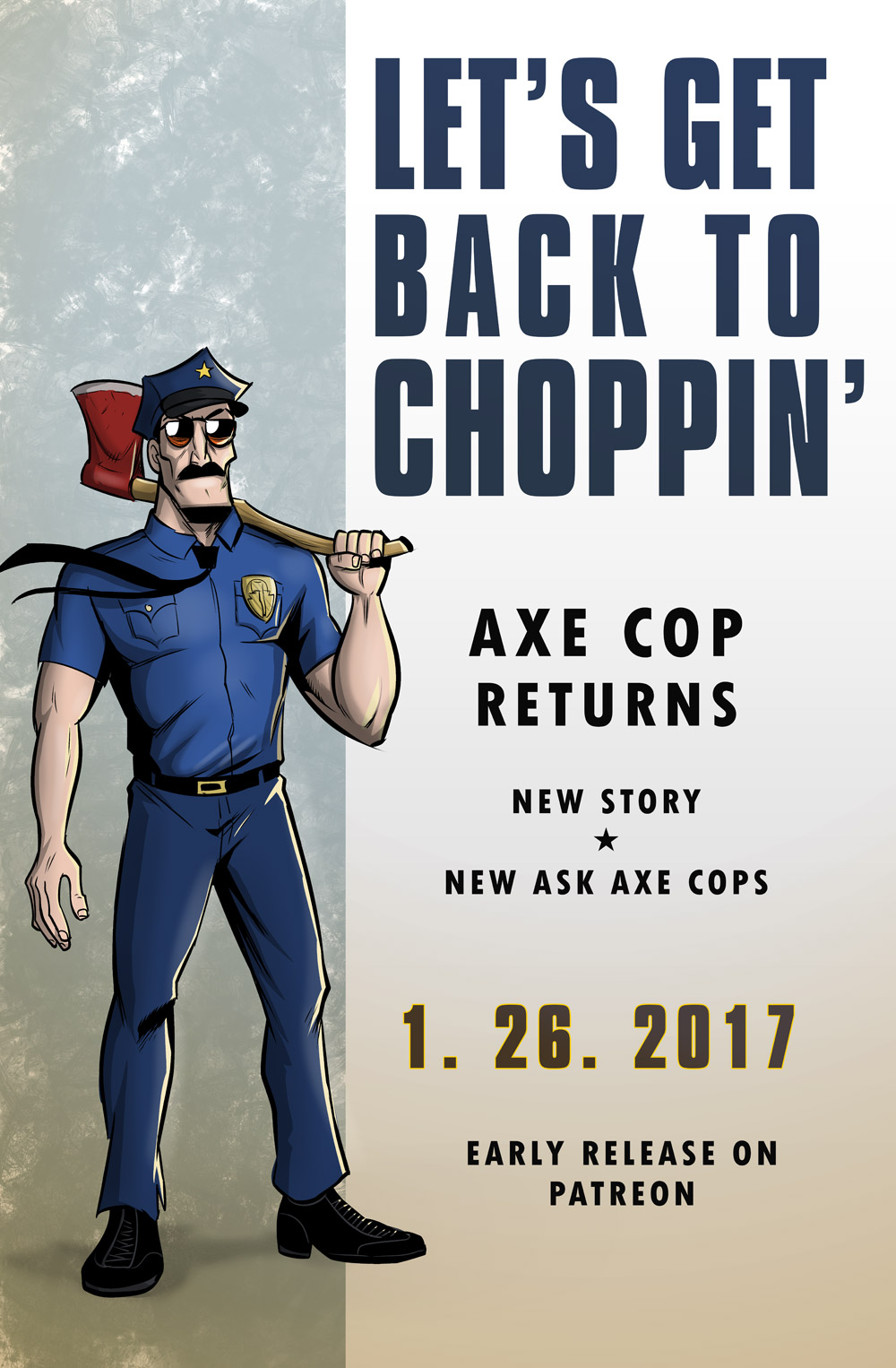 Axe Cop Comics Return January 26th
