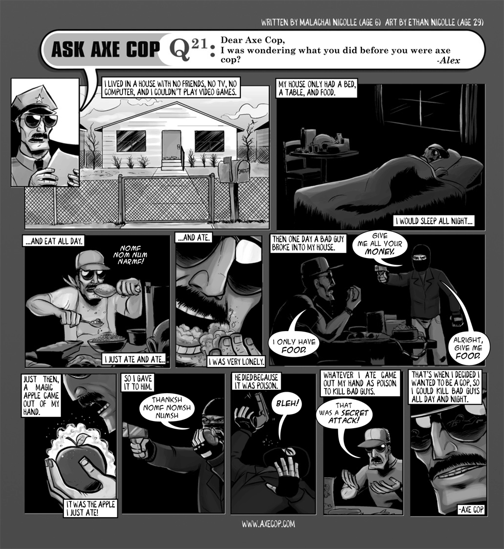 Ask Axe Cop #21
