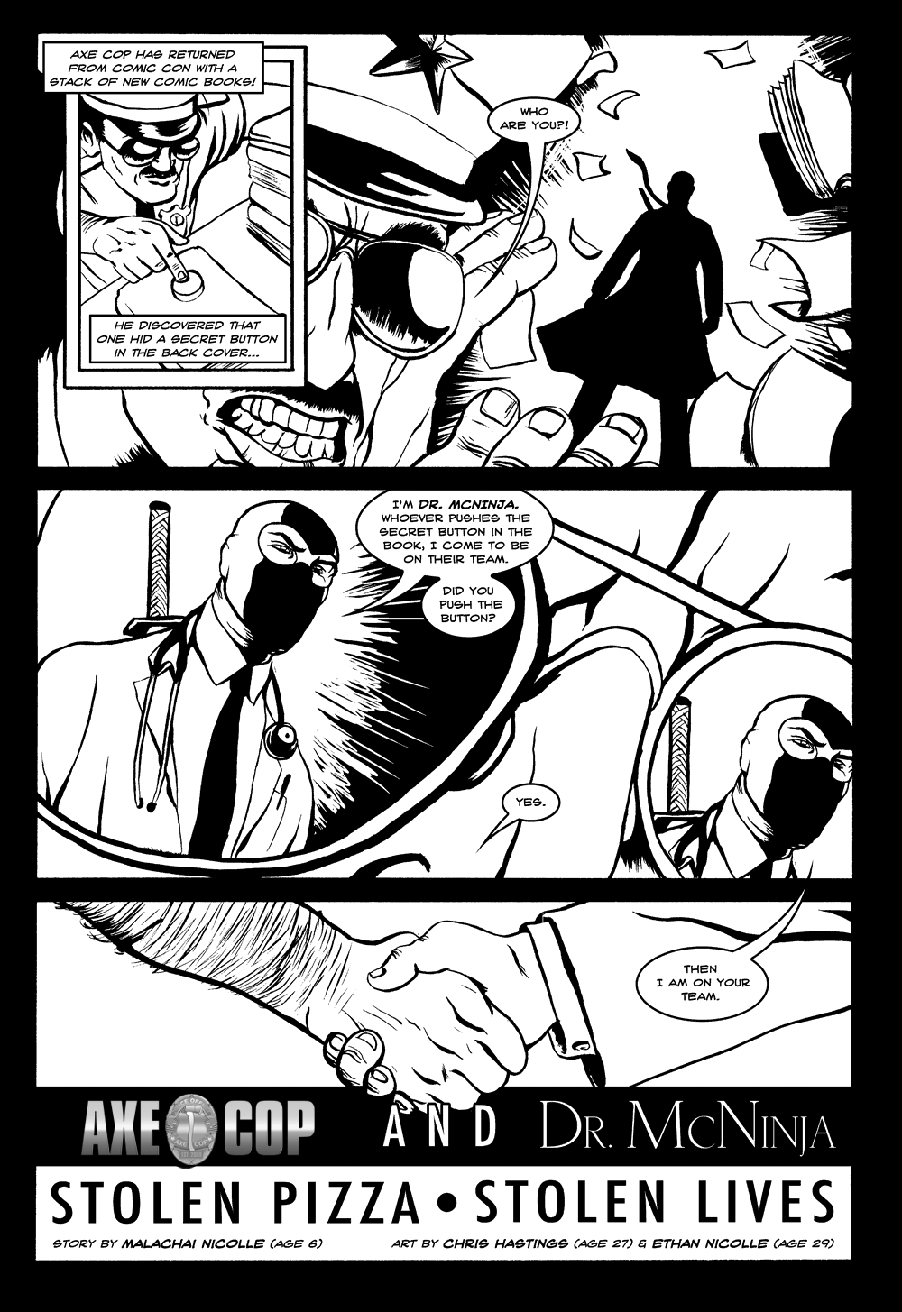Axe Cop & Dr. McNinja Page 1