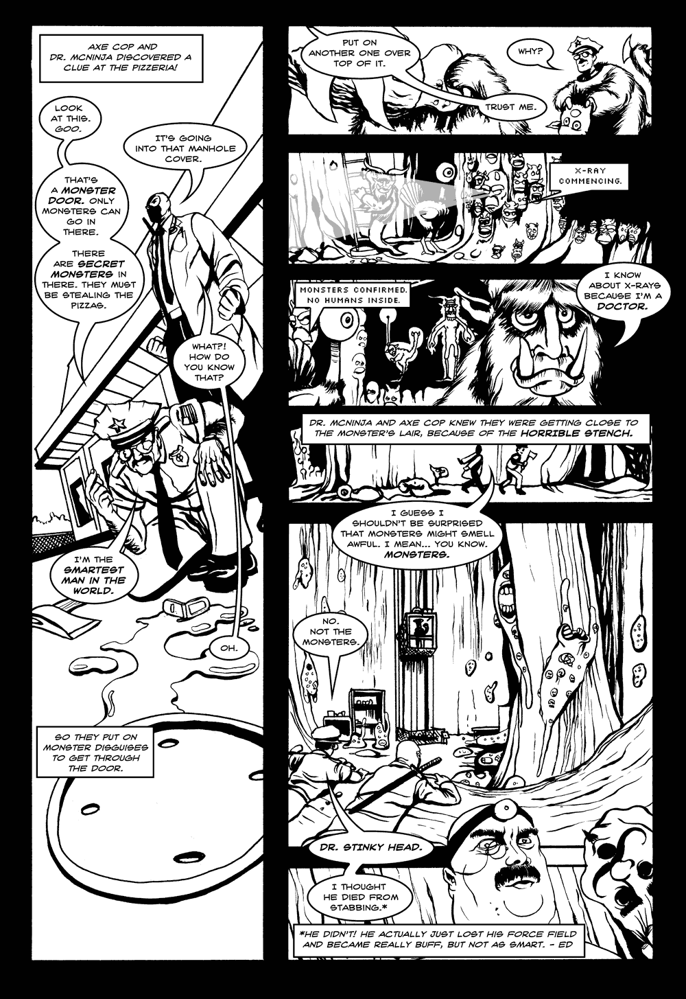 Axe Cop & Dr. McNinja Page 3