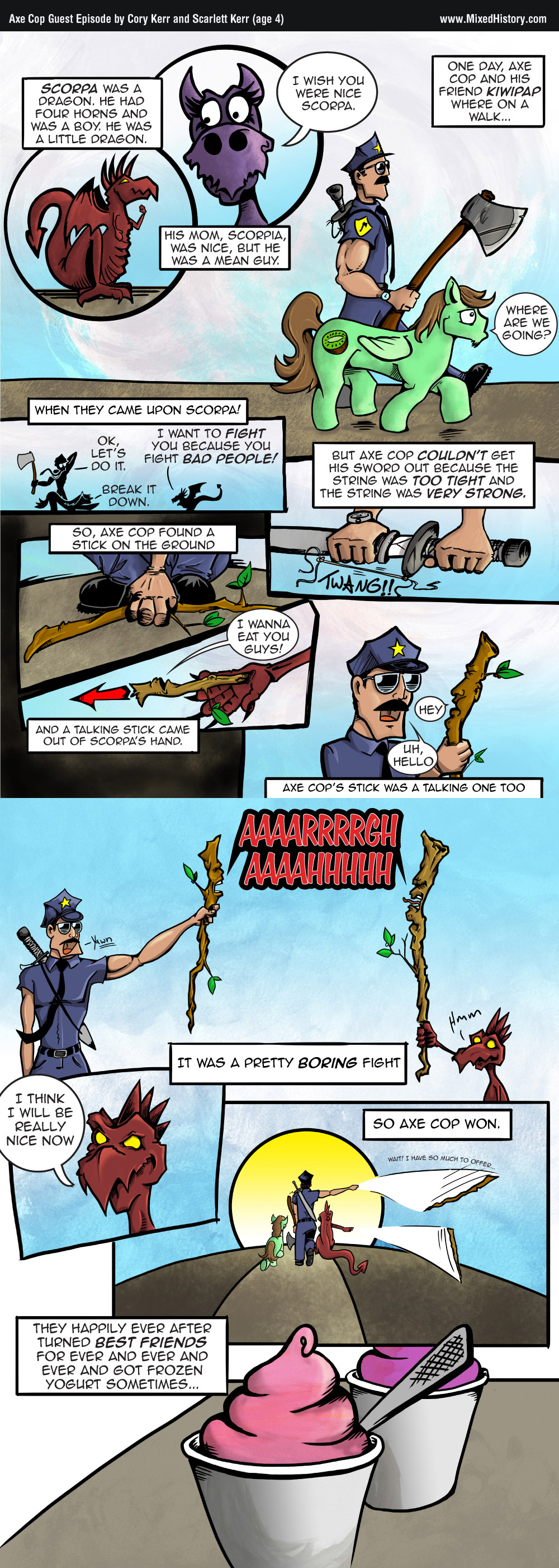No, Axe Cop is not a brony.