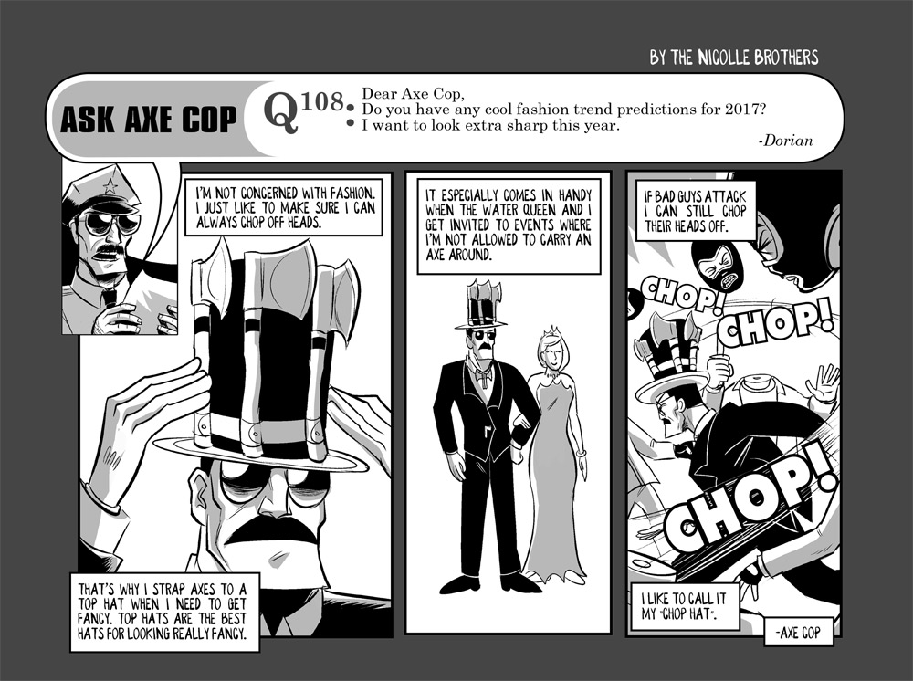"""It's too bad we hadn't thought of this for the """"Middle of the Ocean"""" episode of Axe Cop."""